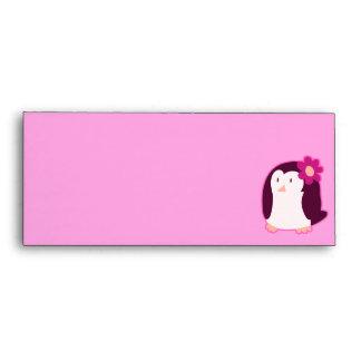Modelo rosado bonito del pingüino
