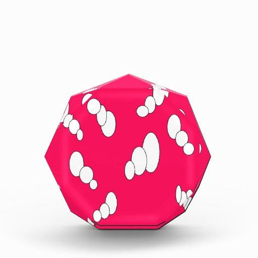 modelo rosado brillante de la burbuja triple