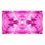 Modelo rosado brillante de la hoja del helecho plantilla de tarjeta de visita