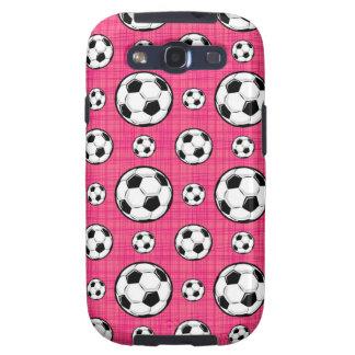 Modelo rosado brillante del balón de fútbol galaxy SIII cárcasa