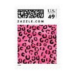 Modelo rosado brillante del estampado leopardo sello