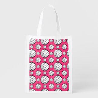 Modelo rosado brillante del voleibol bolsas para la compra