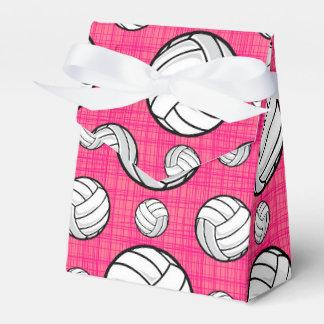 Modelo rosado brillante del voleibol cajas para regalos de fiestas