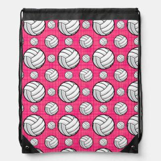 Modelo rosado brillante del voleibol mochilas