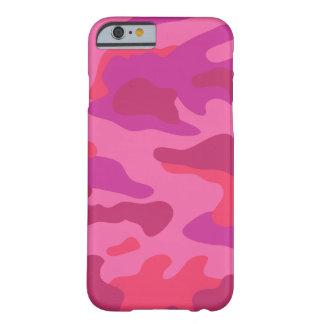 Modelo rosado brillante el | de Camo Funda De iPhone 6 Barely There