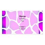 Modelo rosado brillante tarjeta de visita