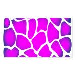 Modelo rosado brillante tarjetas de negocios