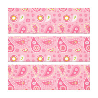 Modelo rosado brillante y bonito de Paisley Impresión En Lona Estirada