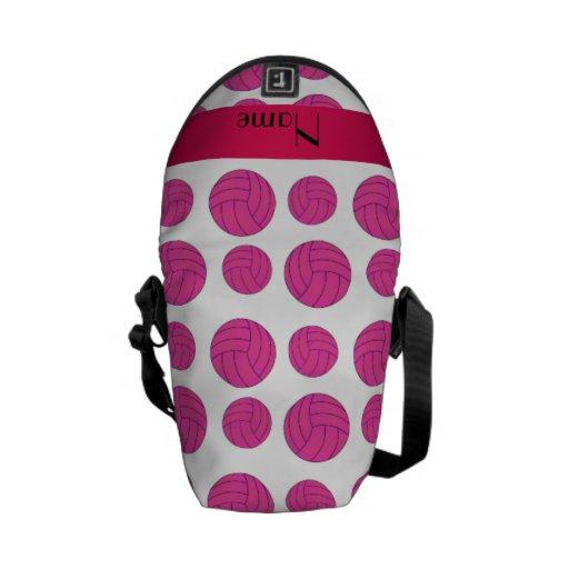 Modelo rosado conocido de encargo del voleibol bolsas de mensajeria