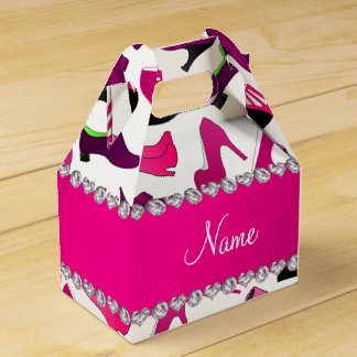 Modelo rosado conocido de los zapatos de las caja para regalo de boda