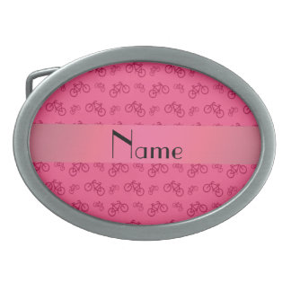 Modelo rosado conocido personalizado de la bicicle hebillas cinturon ovales