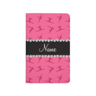 Modelo rosado conocido personalizado de la gimnasi cuaderno