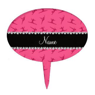 Modelo rosado conocido personalizado de la gimnasi palillos de tarta