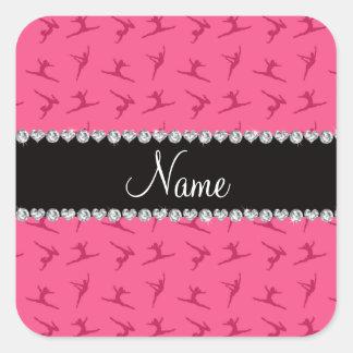 Modelo rosado conocido personalizado de la gimnasi pegatina