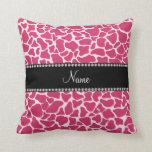 Modelo rosado conocido personalizado de la jirafa almohadas