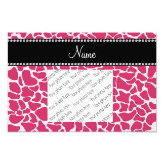Modelo rosado conocido personalizado de la jirafa fotografías
