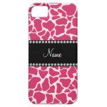 Modelo rosado conocido personalizado de la jirafa iPhone 5 fundas