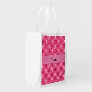 Modelo rosado conocido personalizado de la tabla bolsa de la compra