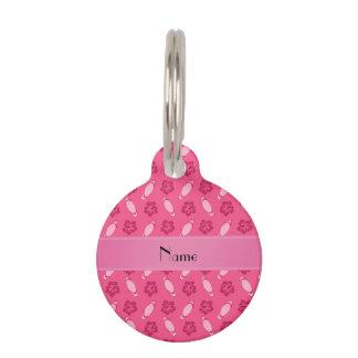 Modelo rosado conocido personalizado de la tabla identificador para mascota