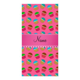Modelo rosado conocido personalizado de la tarjeta personal