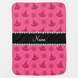 Modelo rosado conocido personalizado de la yoga mantas de bebé