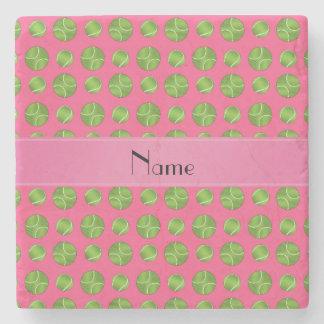 Modelo rosado conocido personalizado de las posavasos de piedra
