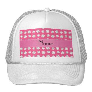 Modelo rosado conocido personalizado de los béisbo gorros