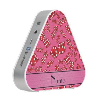 Modelo rosado conocido personalizado de los dados altavoz