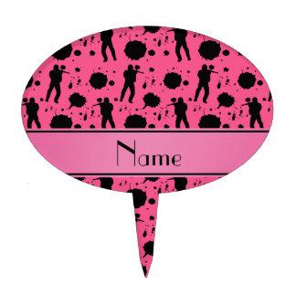 Modelo rosado conocido personalizado de Paintball Decoración De Tarta