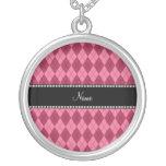Modelo rosado conocido personalizado del argyle joyería