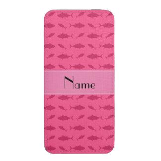 Modelo rosado conocido personalizado del atún de funda para iPhone 5