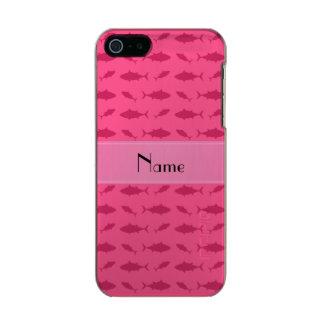 Modelo rosado conocido personalizado del atún de funda para iPhone 5 incipio feather shine