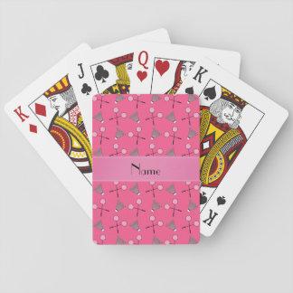 Modelo rosado conocido personalizado del bádminton baraja de póquer