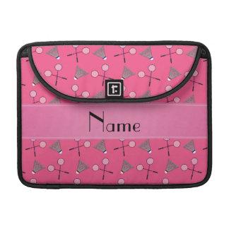 Modelo rosado conocido personalizado del bádminton funda para macbook pro