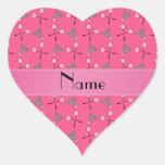 Modelo rosado conocido personalizado del bádminton pegatinas de corazon personalizadas