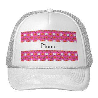 Modelo rosado conocido personalizado del béisbol gorras de camionero