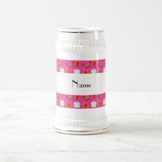 Modelo rosado conocido personalizado del béisbol jarra de cerveza