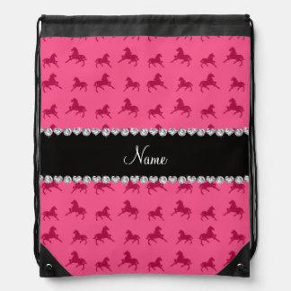 Modelo rosado conocido personalizado del caballo mochilas
