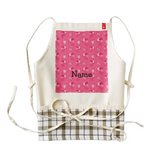 Modelo rosado conocido personalizado del delantal zazzle HEART