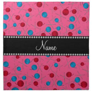 Modelo rosado conocido personalizado del ganchillo servilletas imprimidas