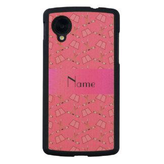 Modelo rosado conocido personalizado del hockey funda de nexus 5 carved® slim de arce