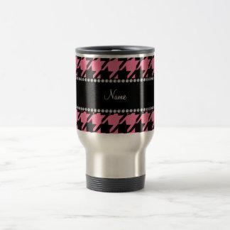 Modelo rosado conocido personalizado del houndstoo tazas de café