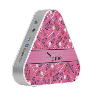 Modelo rosado conocido personalizado del lacrosse altavoz