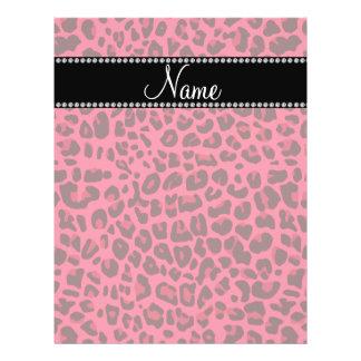 Modelo rosado conocido personalizado del leopardo flyer personalizado