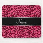 Modelo rosado conocido personalizado del leopardo alfombrillas de raton