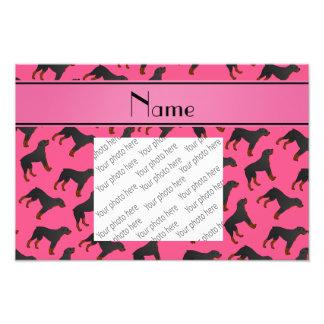 Modelo rosado conocido personalizado del perro del cojinete