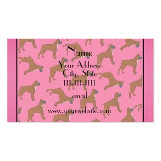 Modelo rosado conocido personalizado del perro del tarjetas de visita