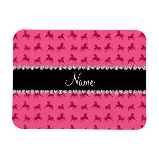 Modelo rosado conocido personalizado del unicornio imán