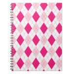 Modelo rosado de Argyle Libro De Apuntes Con Espiral