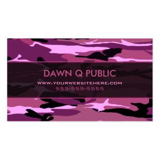 Modelo rosado de Camo Plantilla De Tarjeta De Visita